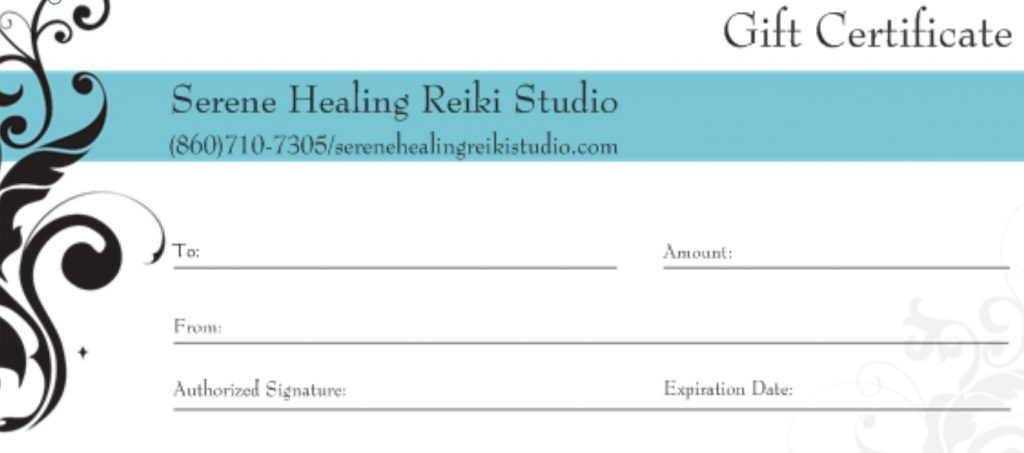 Gift Certificates Give The Gift Of Healing