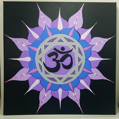 crown chakra symbol painting test